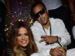 LAS VEGAS, NV - JULY 04:  Khloe Kardashian (L) celebrates her 30th birthday with French Montana (R) at TAO Nightclub on July 4, 2014 in Las Vegas, Nevada.  (Photo by Denise Truscello/WireImage)