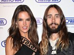 Mandatory Credit: Photo by MediaPunch/REX (4229363a)  Alessandra Ambrosio and Jared Leto  Rimowa Store Opening, New York, America - 28 Oct 2014