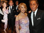 Mandatory Credit: Photo by Richard Young/REX (4229339p)\n Guest, Kylie Minogue and Valentino Garavani\n 'Valentino: At the Emporer's Table' book launch, London, Britain - 28 Oct 2014\n \n