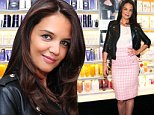 Mandatory Credit: Photo by Startraks Photo/REX (4225623h)\n Katie Holmes\n Katie Holmes stocking up on Alterna Haircare's Caviar Lengthening Elixir, New York, America - 27 Oct 2014\n \n