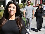 October 27, 2014: Scott Disick (not pictured) and a very pregngant Kourtney Kardashian seen leaving a restaurant in Los Angeles, CA.  \nMandatory Credit: INFphoto.com Ref.: infusla-270|sp|CODE000