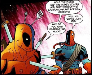 Deadpool v deathstroke