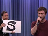 29 October 2014 - Los Angeles - USA  **** STRICTLY NOT AVAILABLE FOR USA ***  Daniel Radcliffe shows off his rapping skills on The Tonight Show. The Harry Potter star was on the show to promote his new horror comedy Horns when he revealed to host Jimmy Fallon that he loved rap music and could learn and recite complicated rap songs. So Fallon challenged him to perform Blackalicious' fast rap song Alphabet Aerobics - which he did without skipping a beat. Also on the show Radcliffe revealed how he loved a new meme that has hit the internet which is a play on his surname with someone putting his face in a club and making it 'rad' instead of boring.   XPOSURE PHOTOS DOES NOT CLAIM ANY COPYRIGHT OR LICENSE IN THE ATTACHED MATERIAL. ANY DOWNLOADING FEES CHARGED BY XPOSURE ARE FOR XPOSURE'S SERVICES ONLY, AND DO NOT, NOR ARE THEY INTENDED TO, CONVEY TO THE USER ANY COPYRIGHT OR LICENSE IN THE MATERIAL. BY PUBLISHING THIS MATERIAL , THE USER EXPRESSLY AGREES TO INDEMNIFY AND TO HOLD XPOSURE HA