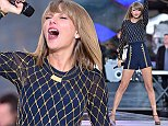 Taylor Swift performs on Good Morning America in Times Square NYC  Pictured: Taylor Swift Ref: SPL878150  301014   Picture by: Ron Asadorian / Splash News  Splash News and Pictures Los Angeles: 310-821-2666 New York: 212-619-2666 London: 870-934-2666 photodesk@splashnews.com
