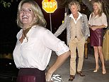 EXCLUSIVE: Rod Stewart and wife Penny Lancaster were seen at IL Piccolino Italian Restaurant in West Hollywood, CA  Pictured: Rod Stewart, Penny Lancaster Ref: SPL878447  301014   EXCLUSIVE Picture by: SPW / Splash News  Splash News and Pictures Los Angeles: 310-821-2666 New York: 212-619-2666 London: 870-934-2666 photodesk@splashnews.com
