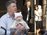 """EXCLUSIVE: Alec Baldwin is a doting father in New York City. The former """"30 Rock"""" star was spotted carrying his daughter Carmen around his local neighborhood with wife Hilaria and their nanny. The family stopped off for a coffee at """"Liquiteria"""" near Union Square in lower Manhattan. \n\nPictured: Alec Baldwin and Hilaria Baldwin\nRef: SPL874097  291014   EXCLUSIVE\nPicture by: Splash News\n\nSplash News and Pictures\nLos Angeles:\t310-821-2666\nNew York:\t212-619-2666\nLondon:\t870-934-2666\nphotodesk@splashnews.com\n"""