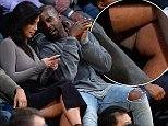 2014 GAMEPIKS 310-828-3445 Kanye West and wife Kim Kardashian attend the Los Angeles Lakers game against the Houston Rockets at Staples Center in Los Angeles on October 28, 2014. The Rockets defeated the Lakers 108-90. GAMEPIKS