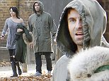 EXCLUSIVE: After tweeting the end for his band Beady Eye, Liam Gallagher was spotted out with girlfriend Debbie Gwyther and new pet pooch early this morning in North London UK  Pictured: Liam Gallagher & Debbie Gwyther Ref: SPL867993  271014   EXCLUSIVE Picture by: Ray Crowder / Splash News  Splash News and Pictures Los Angeles: 310-821-2666 New York: 212-619-2666 London: 870-934-2666 photodesk@splashnews.com