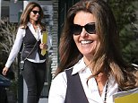 Maria Shriver was spotted in Brentwood, wearing a vest and white button-up with pants and heels, taking care of business, on Thursday, October 30, 2014 X17online.com