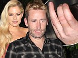 128423, Chad Kroeger heads to Bar Marmont with a friend in Los Angeles. Chad was seen without his wedding ring. Los Angeles, California - Sunday October 26, 2014. Photograph: © David Tonnessen, PacificCoastNews. Los Angeles Office: +1 310.822.0419 sales@pacificcoastnews.com FEE MUST BE AGREED PRIOR TO USAGE