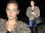 Picture Shows: Jaime King  October 31, 2014\n \n 'Hart of Dixie' star Jaime King is spotted leaving Shamrock Tattoo studio in West Hollywood, California. \n \n The thirty-five year-old actress kept herself covered up with a feathered coat, hiding any tattoo she may have gotten.\n \n Non Exclusive\n UK RIGHTS ONLY\n \n Pictures by : FameFlynet UK © 2014\n Tel : +44 (0)20 3551 5049\n Email : info@fameflynet.uk.com