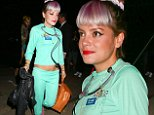 Pacific Palisades, CA - Lily Allen stepped out to celebrate Halloween at Kate Hudson's annual Halloween Party. Allen showed some midriff wearing a doctor's costume.\nAKM-GSI        October  30, 2014 \nTo License These Photos, Please Contact :\nSteve Ginsburg\n(310) 505-8447\n(323) 423-9397\nsteve@akmgsi.com\nsales@akmgsi.com\nor\nMaria Buda\n(917) 242-1505\nmbuda@akmgsi.com\nginsburgspalyinc@gmail.com