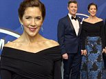 Crown Princess Mary, Crown Prince Frederik attending a dinner hosted by the AmCham (Amercan Chamber of Commerce) to celebrate its 15th Anniversary, Moltkes Palais, Copenhagen, Denmark, October 29, 2014.