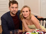 NO WEB NO APPS. EXCLUSIVE. Joshua Jackson and Diane Kruger attending Flaunt Magazine Party held at l'Arc Paris, France.