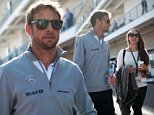 2014 Formula 1 United States Grand Prix - Circuit of The Americas - Race Day Featuring: Jenson BUTTON,Jessica Michibata Where: Austin, Texas, United States When: 02 Nov 2014 Credit: ATP/WENN.com **Not available for TV, Print in Germany**