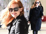 Jessica Chastain arrives at JFK airport in NYC.\n\nPictured: Jessica Chastain\nRef: SPL880472  021114  \nPicture by: Ron Asadorian / Splash News\n\nSplash News and Pictures\nLos Angeles: 310-821-2666\nNew York: 212-619-2666\nLondon: 870-934-2666\nphotodesk@splashnews.com\n