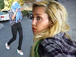 Amanda Bynes exits Mel's Diner after lunch.  Pictured: Amanda Bynes  Ref: SPL880368  011114   Picture by: Vladimir Labissiere/Splash News  Splash News and Pictures Los Angeles: 310-821-2666 New York: 212-619-2666 London: 870-934-2666 photodesk@splashnews.com