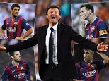 BARCELONA, SPAIN - SEPTEMBER 17:  Head coach Luis Enrique of FC Barcelona reacts during the UEFA Champions League Group F match between FC Barcelona and APOEL FC at the Camp Nou Stadium on September 17, 2014 in Barcelona, Spain.  (Photo by David Ramos/Getty Images)