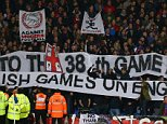 3 November 2014 - Barclays Premier League - Crystal Palace v Sunderland - Crystal Palace fans raise banners in protest at the premier league - Photo: Marc Atkins / Offside.