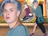 ***MANDATORY BYLINE TO READ INFphoto.com ONLY***\nRumer Willis startled from a text conversation, sports socks with sandals and faded blue hair, Los Angeles, CA.\n\nPictured: Rumer Willis\nRef: SPL883448  051114  \nPicture by: Mariotto/INFphoto.com\n\n