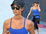Picture Shows: Stacy Keibler  November 05, 2014\n \n Former WWE Diva Stacy Keibler shows off her post pregnancy body while heading to the gym in Beverly Hills, California for a workout. 34 year old Stacy welcomed her first child into the world at the end of August and is already looking slim and fit.\n \n Exclusive All Rounder\n UK RIGHTS ONLY \n \n Pictures by : FameFlynet UK © 2014\n Tel : +44 (0)20 3551 5049\n Email : info@fameflynet.uk.com