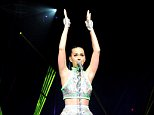 """NEW YORK, NY - JULY 09:  (Editorial Use Only) Katy Perry performs onstage during """"The Prismatic World Tour"""" at Madison Square Garden on July 9, 2014 in New York City.  (Photo by Kevin Mazur/WireImage)"""