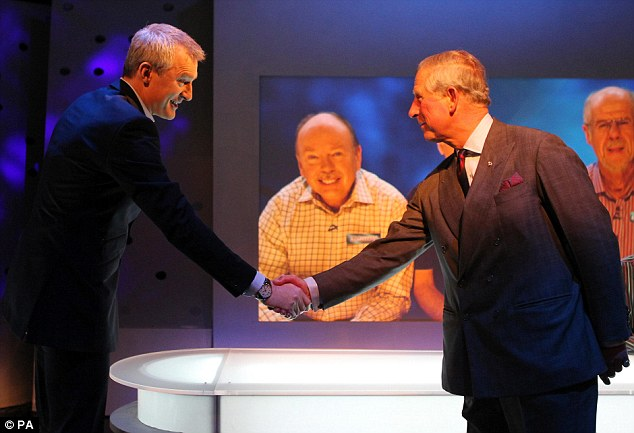 Charles had a brief chat with Eggheads presenter Jeremy Vine afterbeing introduced during his tour of set of the popular general knowledge quiz show