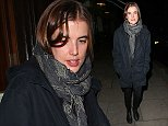 Actress/model Agyness Deyn leaving the Lemonia restaurant in Primrose Hill, London, UK. 07/11/2014 BYLINE MUST READ : JAMESY/GOTCHA IMAGES Copyright by    Gotcha Images Ltd. All rights reserved. Usage of this image is conditional upon the acceptance  of Gotcha Images Ltd, terms and conditions available at www.gotchaimages.com