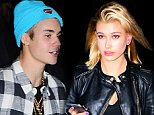 EXCLUSIVE: Justin Bieber was spotted enjoying a night out on the town in NYC on Thursday. He was joined by Hailey Baldwin at Pastor Carl Lentz's birthday celebration. Hailey and Justin exited together, but Hailey tried to remain unseen. Justin wore a light blue beanie and a plaid top for the outing, in the wake of his ex, Selena Gomez releasing an emotional music video for her new song, 'The Heart wants What it Wants'.  Pictured: Hailey Baldwin Ref: SPL881749  061114   EXCLUSIVE Picture by: 247PapsTV / Splash News  Splash News and Pictures Los Angeles: 310-821-2666 New York: 212-619-2666 London: 870-934-2666 photodesk@splashnews.com