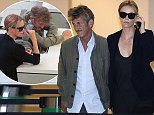 EXCLUSIVE FAO DAILY MAIL ONLINE ONLY  Mandatory Credit: Photo by Tania Coetzee/REX (4239498e)  Sean Penn and Charlize Theron  Sean Penn and Charlize Theron at Cape Town Airport, South Africa  - 06 Nov 2014