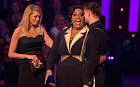 Alison Hammond and partner Aljaz Skorjanec, who exited the ballroom in week seven of Strictly Come Dancing