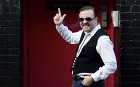 Ricky Gervais as David Brent, star of The Office, and now film Life on the Road