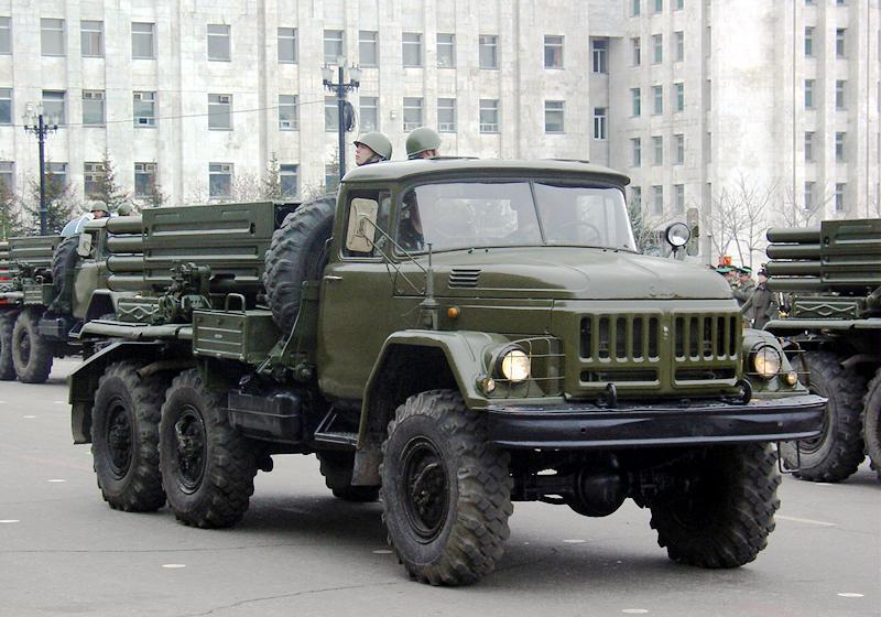 Реактивная система залпового огня -  РСЗО 9К55  Град-1