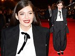 "LONDON, ENGLAND - NOVEMBER 10:    Lorde attends the World Premiere of ""The Hunger Games: Mockingjay Part 1"" at Odeon Leicester Square on November 10, 2014 in London, England.  \nPic Credit: Dave Benett"