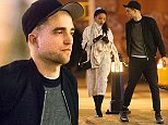 EXCLUSIVE: PREMIUM RATES APPLY** Robert Pattinson and reported new girlfriend, FKA Twigs go for a romantic dinner in NYC. They returned to their hotel at 2am Pictures taken Thursday 6th November 2014  Ref: SPL884110  081114   EXCLUSIVE Picture by: Splash News  Splash News and Pictures Los Angeles: 310-821-2666 New York: 212-619-2666 London: 870-934-2666 photodesk@splashnews.com