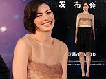 "SHANGHAI, CHINA - NOVEMBER 10:  Actress Anne Hathaway attends director Christopher Nolan's film ""Interstellar"" premiere press conference at  the Peninsula Shanghai on November 10, 2014 in Shanghai, China.  (Photo by ChinaFotoPress/Getty Images)"