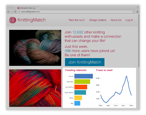 KnittingMatch front page