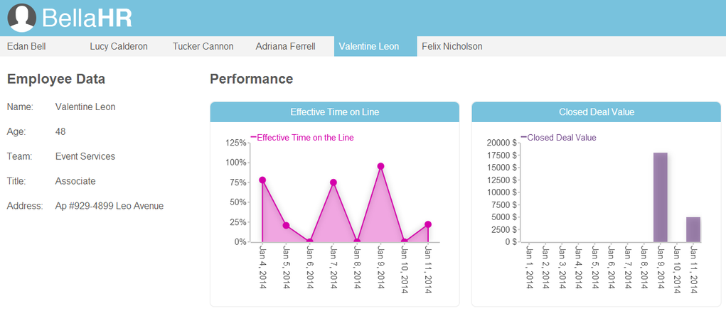 BellaHR Embedded HR Analytics