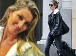 129013, EXCLUSIVE: Gisele Bundchen rocks a leather jacket and rolls a suitcase as she heads out into New York. The supermodel also wore skintight ripped jeans and fingerless gloves. New York, New York - Wednesday November 12, 2014. AUSTRALIA, NEW ZEALAND, INDONESIA, PHILIPPINES, TAIWAN & HONG KONG OUT Photograph: © PacificCoastNews. Los Angeles Office: +1 310.822.0419 sales@pacificcoastnews.com FEE MUST BE AGREED PRIOR TO USAGE