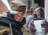Picture Sir Michael Gambon who is playing the part of Private Godfrey in the new Dads Army film. Pictured on set during filming in Beverley.\nAndrew McCaren/Rossparry.co.uk