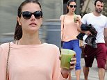 EXCLUSIVE: Alessandra Ambrosio sips a green health shake as she leaves a cycling class with husband Jamie. Ambrosio was seen leaving Burn60 work out class in Brentwood and stopped off at Evolution to get some healthy refreshments after the class. Jamie brought his change of clothes and looked to have had a healthy workout, with sweat dripping off him!\n\nPictured: Alessandra Ambrosio and Jamie Mazur\nRef: SPL885148  101114   EXCLUSIVE\nPicture by: Splash News\n\nSplash News and Pictures\nLos Angeles:\t310-821-2666\nNew York:\t212-619-2666\nLondon:\t870-934-2666\nphotodesk@splashnews.com\n