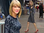 "Taylor Swift arrives at Good Morning America to promote her new video 'Blank Space"" in New York City\n\nPictured: Taylor Swift\nRef: SPL887249  111114  \nPicture by: Splash News\n\nSplash News and Pictures\nLos Angeles: 310-821-2666\nNew York: 212-619-2666\nLondon: 870-934-2666\nphotodesk@splashnews.com\n"