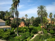 The Alcázar garden i