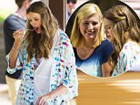 Australian Model Robyn Lawley films with Johanna Griggs in Bondi.\\nRobyn also revealed her sexy underwear after shooting where her mic had to be taken off forcing her to lift up her dress.