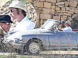 """EXCLUSIVE Brad Pitt & Angelina Jolie are seen filming scenes in a vintage Citroen convertible car for their new movie """"By The Sea"""" in Gozo, Malta. 9 November 2014. Please byline: Vantagenews.co.uk"""