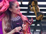 American singer-songwriter Ariana Grande holds her Newcomer trophy during the Bambi 2014 media awards ceremony in Berlin November 13, 2014. The annual Bambi awards honours celebrities from the world of entertainment, literature, sports and politics.        REUTERS/Fabrizio Bensch (GERMANY  - Tags: ENTERTAINMENT)