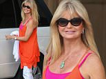 12 Nov 2014 - BEVERLY HILLS - USA  GOLDIE HAWN AT MONTAGE HOTEL IN BEVERLY HILLS.  BYLINE MUST READ : XPOSUREPHOTOS.COM  ***UK CLIENTS - PICTURES CONTAINING CHILDREN PLEASE PIXELATE FACE PRIOR TO PUBLICATION ***  **UK CLIENTS MUST CALL PRIOR TO TV OR ONLINE USAGE PLEASE TELEPHONE  44 208 344 2007 ***