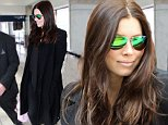 Los Angeles, CA - Expecting actress Jessica Biel shows her pregnancy glow as she arrives at LAX airport to catch a flight out of town.  Jessica strategically wore all black to keep her little baby bump hidden from any onlookers.  Looks like husband Justin Timberlake has beefed up the security, having her travel with a new bodyguard.\nAKM-GSI          November 12, 2014\nTo License These Photos, Please Contact :\nSteve Ginsburg\n(310) 505-8447\n(323) 423-9397\nsteve@akmgsi.com\nsales@akmgsi.com\nor\nMaria Buda\n(917) 242-1505\nmbuda@akmgsi.com\nginsburgspalyinc@gmail.com