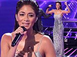 *** MANDATORY BYLINE TO READ: Syco / Thames / Corbis *** Nicole Scherzinger is seen performing at the live X Factor show in London. Credit: Dymond/Syco/Thames/Corbis  Pictured: Nicole Scherzinger Ref: SPL891846  161114   Picture by: Syco / Thames / Corbis