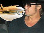 Brad Pitt arrives in Sydney, NSW, Australia